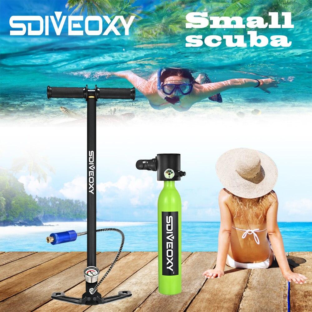 SDIVEOXY scuba diving 0.5L miniature oxygen tank swimming equipment diving scuba adapter portable snorkeling equipment(China)