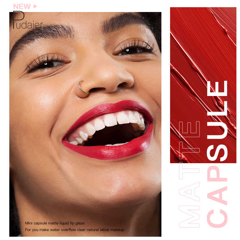 Pudaier Mini Vloeibare Lipstick Draagbare Professionele Make Volledige Draagbare Lipsticks Voor Lippen Make Up Tint Lipgloss Lipstick Matte