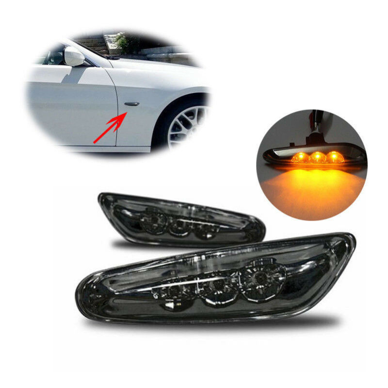 2pcs Car LED Side Marker Lights Repeater Turn Signal Indicator Lamp For BMW E46 E60 E82 E88 E90 E92 E93 Free Shipping