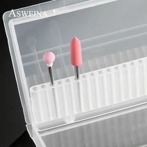 Image 3 - Пластиковые прозрачные сверла для ногтей ASWEINA, 1 шт., 20 отверстий, акриловая коробка, стенд контейнер для демонстрации сверл 3/32 дюйма, инструмент для демонстрации сверл