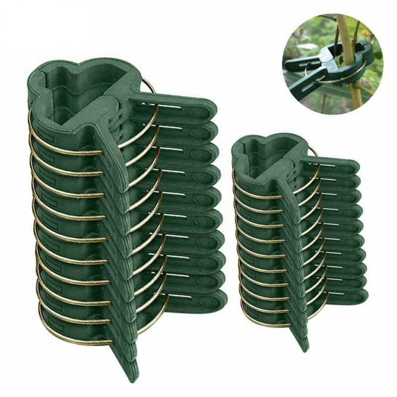 Многоразовые зажимы с опорой для растений, 20 шт., размер S/L, опора для растений с цинком, подвесные лозы, садовые теплицы, овощи, помидоры