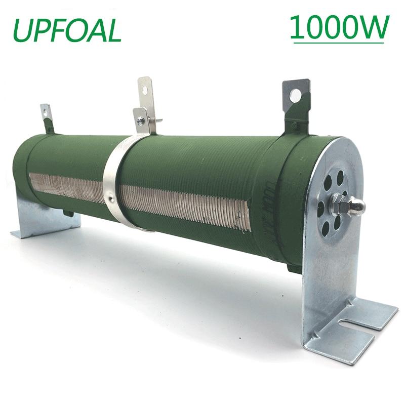 1000w переменный резистор, потенциометр, фарфоровая трубка, регулируемый резистор, Реостат со скользящим контактом