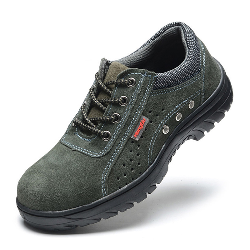 Nice Work Safey Boots Steel Toe Work Shoes Men Boots Anti-puncture Safety Shoes  Male Shoes Adult Wear-resistant Military Boots