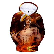 The Seven Deadly Sins 3D hoodies sweatshirt game around popular casual wear anime fans youth action loose new