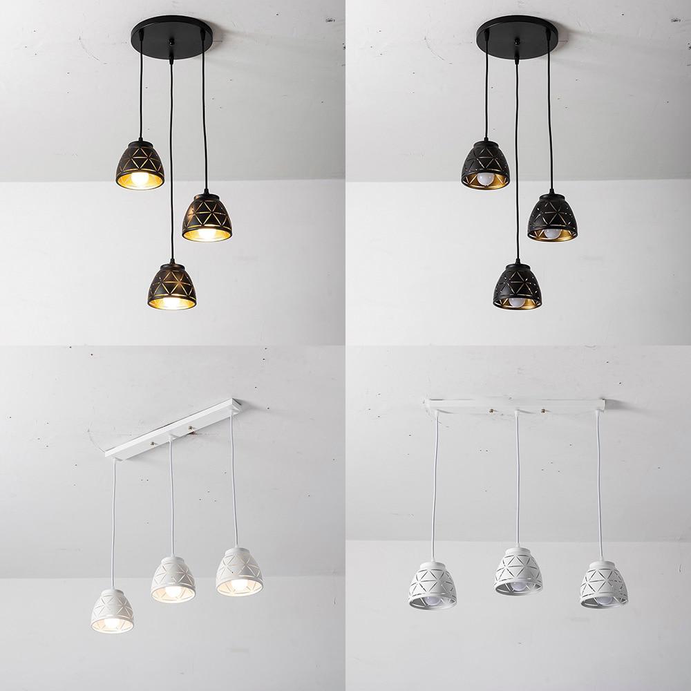 CHJJLL Black Or White Chandelier Pendant Lamp Round Or Long Led Pendant Lighting For Cafe Shop Housing Hotel So Beautiful