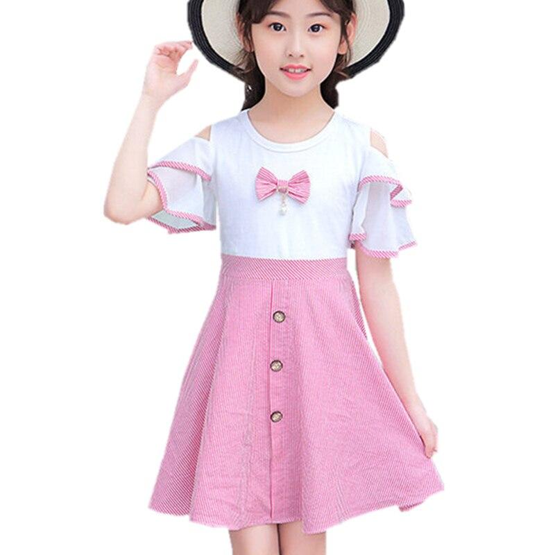 Robe de soirée princesse, tenue de soirée élégante, de styliste, vêtements de mariage pour enfants de 13 à 4 ans, manches bouffantes
