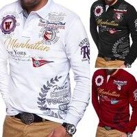 2020 новая модель Aeronautica Militare Camisa Masculina Polo мужская рубашка поло с длинным рукавом брендовая Однотонная рубашка поло 4 цвета S-3XL