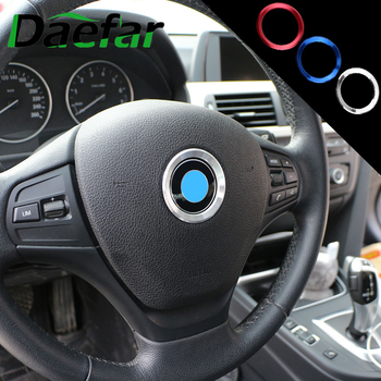 Daefar Car Stickers for BMW 1 2 3 Series F20 F21 F30 F31 F34 F35 2010 - 2020 Steering Wheel Decoration Cover Circle Trim Sticker image