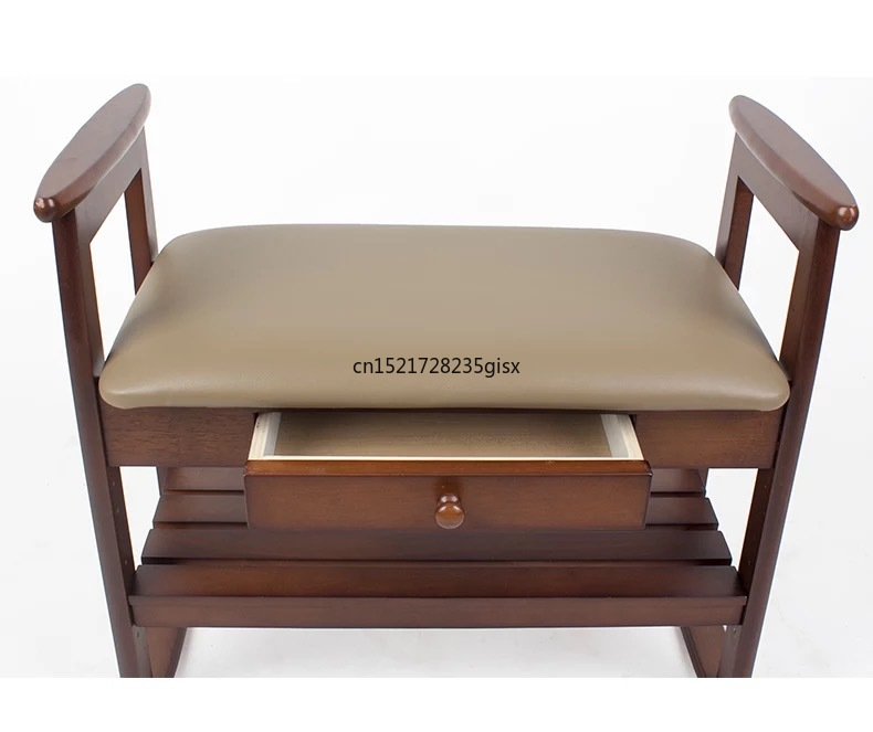 Solid Wood Shoes Bench Door Shoes Stool Home Nordic Modern Minimalist Stool Bedroom Makeup Stool