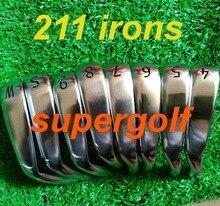 2019 neue golf irons 0211 eisen stellten (4 5 6 7 8 9 S W) mit dynamic gold S300 stahl welle 8 stücke 211 golf clubs