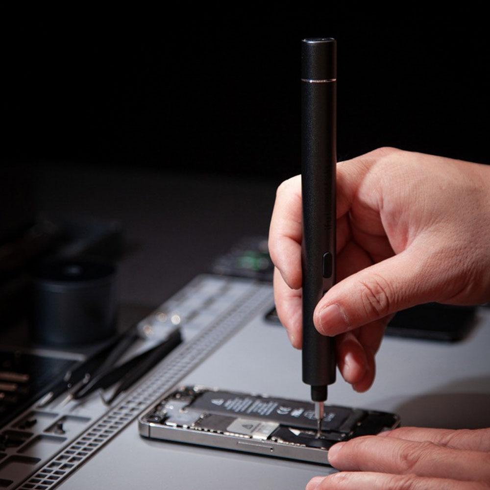 H328fa61ec3784673bad5b1198afa2a055 - Electric Screwdriver  3-speed Screwdrivers Pen 24pcs Precision Bits Set Cordless Magnetic Screw Driver Phone Device Repair