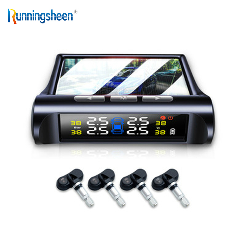 Car TPMS Monitoring-System Security-Alarm-Systems Lcd-Display Tire-Pressure-Sensor Digital