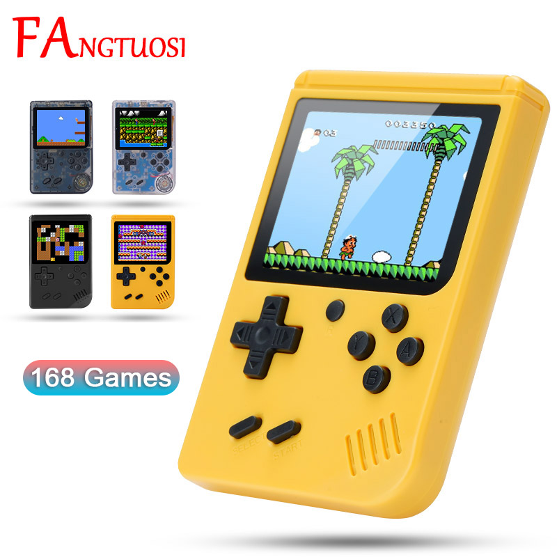 FANGTUOSI Video Game Console Mini 8 Bit 168 Games Handheld Game Have 3 0 Inch Color LCD Screen For Child Nostalgic Player