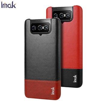 IMAK Fo Zenfone 7 Pro ZS671KS Case Cover Luxury Skin PU Leather Cases Fo Zenfone 7 Pro ZS671KS Hard PC Back Cover