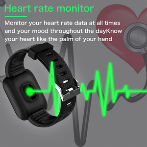 Image 4 - スマートブレスレット健康バンド歩数計心拍数モニターリストバンド心臓ブレスレットスマートウォッチ圧力測定