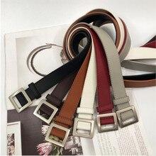 2019 explosion models square buckle fashion simple decoration belt waist jeans d