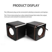 3,5 мм аудио разъем для ноутбука Настольный небольшой квадратный компактный мини-динамик портативный Саундбар компьютер USB динамик мини-динамик ноутбука