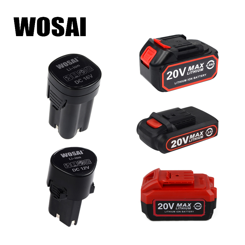 WOSAI 12V 16V 20V Lithium-Ion series Cordless Drill/Brushless Wrench/Screwdriver/Circular Saw/Jig Saw