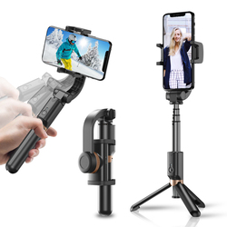 APEXEL 4 in 1 selfie stick smartphone camera stabilizer Live support 360 Rotation Live vlog handheld pocket For Phone DSLR Gopro