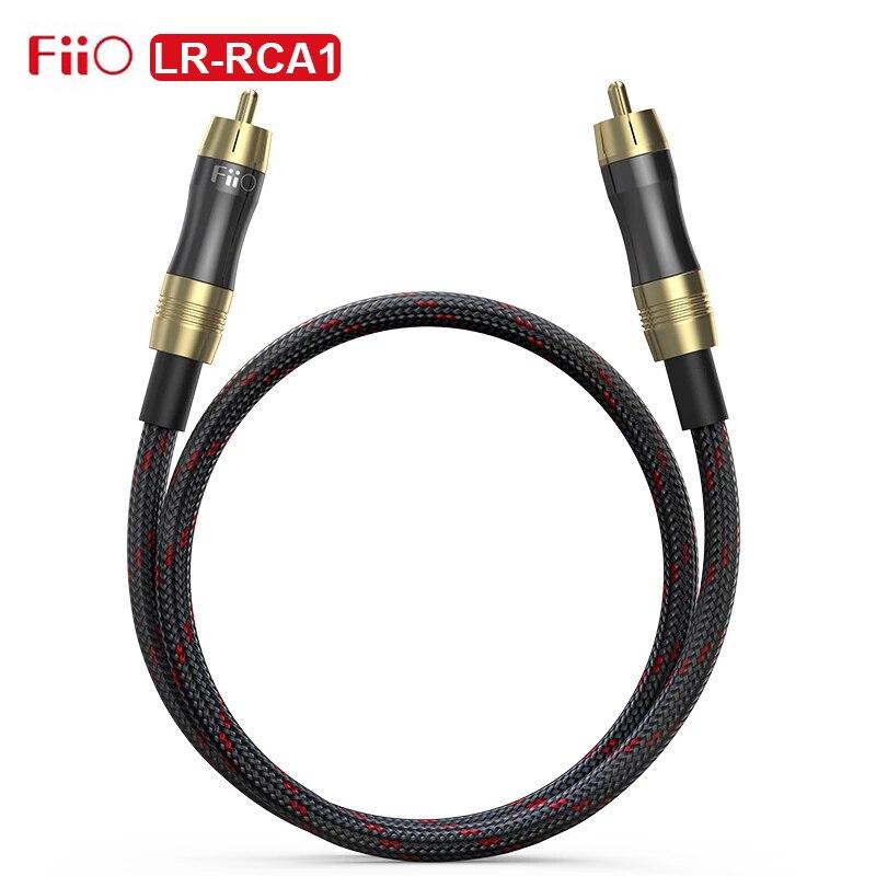 FiiO LR-RCA1 Digital Audio cavo coassiale ad alta purezza nucleo in rame privo di ossigeno 50CM RCA per PC TV amplificatore K5 Pro BTA30