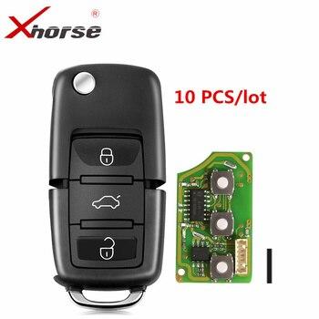 Универсальный проводной дистанционный ключ XHORSE XKB501EN для B5 Type 3 кнопки работает для VVDI2/VVDI Key Tool/MIni Key Tool/Key Tool Max 10 шт.
