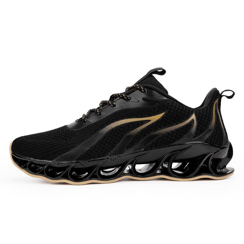 Новинка, мужские кроссовки для бега, бега, прогулок, спорта, высокое качество, на шнуровке, дышащие кроссовки - Цвет: A65Black Yellow