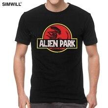 Camiseta Vintage Alien Covenant Park de algodón informal para hombre, camisetas de verano de manga corta, camiseta gráfica con ventilador de película, Idea de regalo