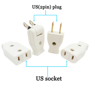 Image 2 - Japanese plug Butt Electrical Plug Socket Power Connector Cable Cord Female Male Converter Adaptor 15A 125V Pure cupper plug