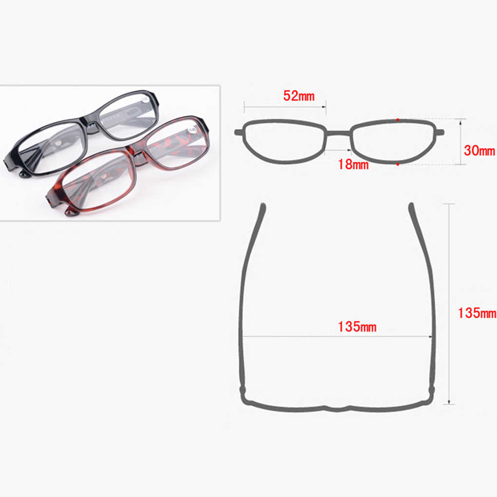Gafas de lectura de resina para hombre y mujer, gafas de presbicia portátiles para personas mayores, gafas de aumento
