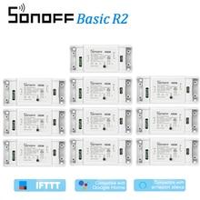 10Pcs ITEAD Sonoff Basic R2 Wifi DIY Smart Wireless Remote Switch Domotica Light Controller Module For Alexa Google Home eWeLink