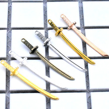 NEW 10pcs 50x8mm 6 Colors Vintage Alloy Plated Japanese Katana Charms DIY Handmade Jewelry Accessories