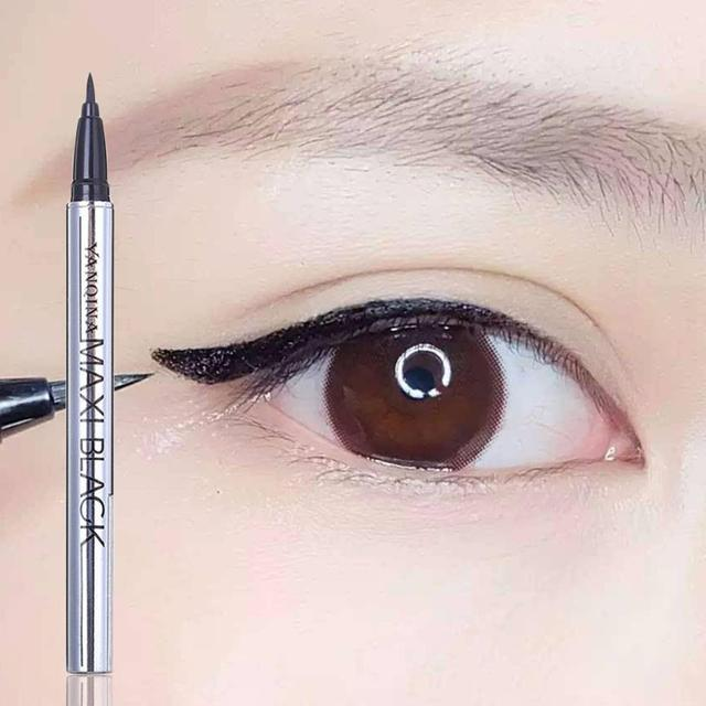 1 pcs Ladies Black Liquid Eyeliner Long-lasting Waterproof Eye Liner Pencil Smudge-Proof Cosmetic Beauty Makeup Liquid 4