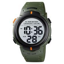 SKMEI 10 lat baterii zegarek męski 100M wodoodporny budzik zegarki sportowe LED cyfrowy zegarek męski relogio masculino 1560