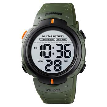 SKMEI 10 Years Battery Men's Watch 100M Waterproof Alarm Clock Sport Watches LED Digital Man Wrist relogio masculino 1560 - discount item  52% OFF Men's Watches