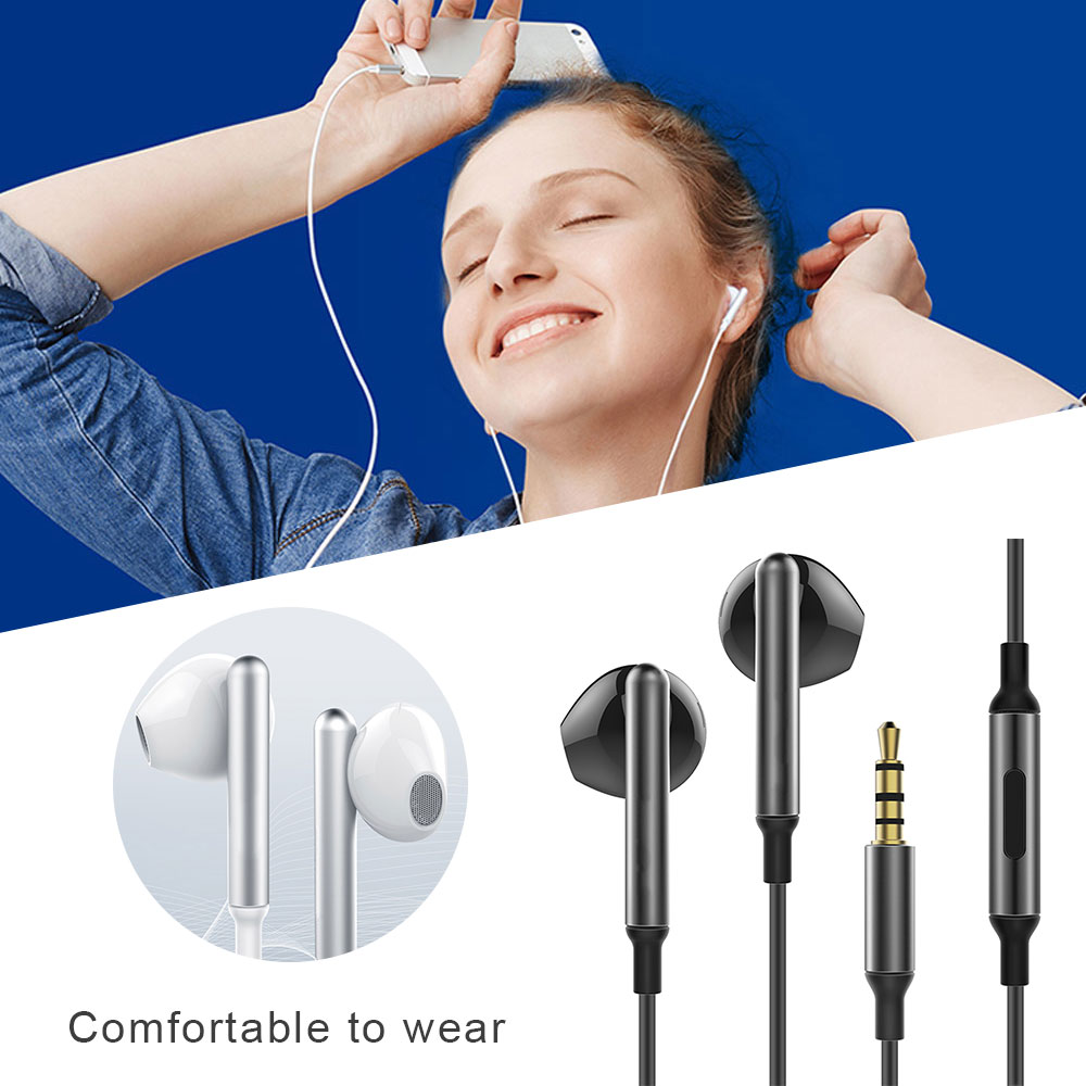 In-ear bass K song with wheat music wired phone headset computer hifi half earbuds for noise reduction headphones HIFI headphone image