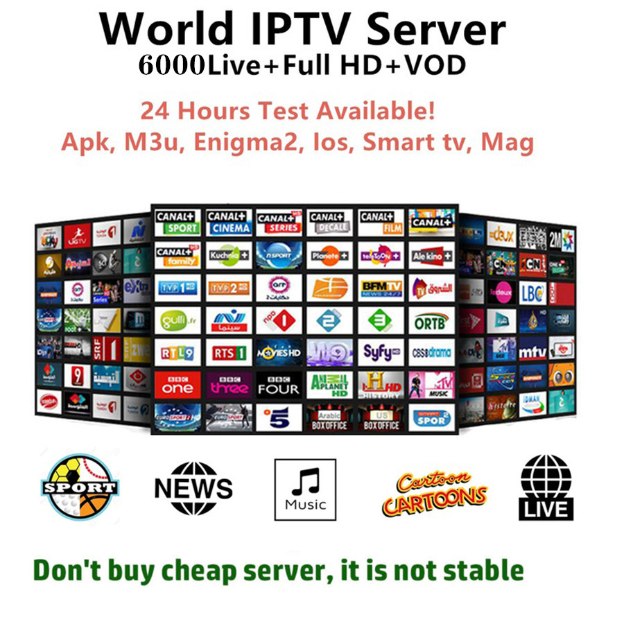 Full HD World Europe IPTV Subscription Adult Iptv French Spain Sweden Brazil Tv Box Android Tv Box Smart Iptv M3u Iptv Box