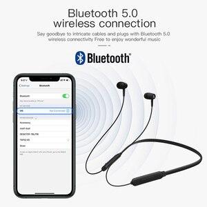 Image 4 - Kuulaa bluetooth fone de ouvido sem fio em orelha neckband esportes fone de ouvido handsfree earbud bluetooth 5.0 para telefone celular fone de ouvido