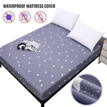 80/160*200cm Printing Bed Mattress Cover Waterproof Fitted Sheet Protector Pad