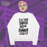 Round neck pullover rap leisure skateboard off white stickers Letter Print Stickers streetwear silhouette Vacation sisters