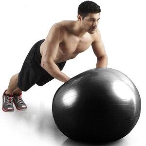 Черные мячи для упражнений, мужские профессиональные мячи с защитой от разрывов, домашний гимнастический мяч для пилатеса, йоги, фитнеса, ба...