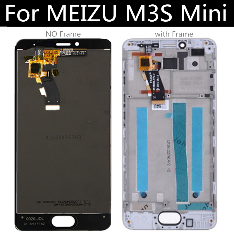 For <font><b>Meizu</b></font> <font><b>M3s</b></font> <font><b>Mini</b></font> LCD <font><b>Display</b></font> Touch Screen with frame Digitizer Assembly Replacement 5.0 inch Y685H image