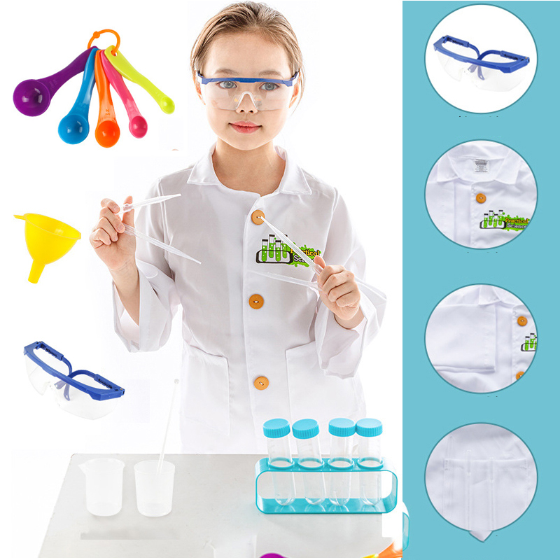 Child Scientist Role Playing Surrounding Life Scientist Explorer Astronaut Girl Clothes 3 To 7 Years Old Party Toy Birthday Gift