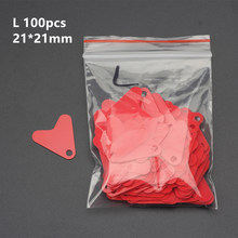 100Pcs/200 Pcs Fishing Lure 21mm Plastic Red Heart Shape Sequin Spinners Trout Spoon Hook Tail DIY Fishing Lure Accessory(China)