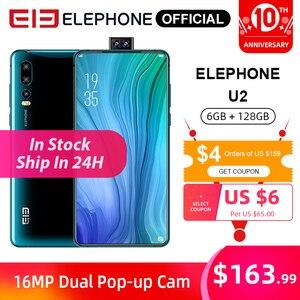 ELEPHONE U2 MTK MT6771T Octa Core 6GB 128GB Cellphone 16MP Pop-up Cam 6.26