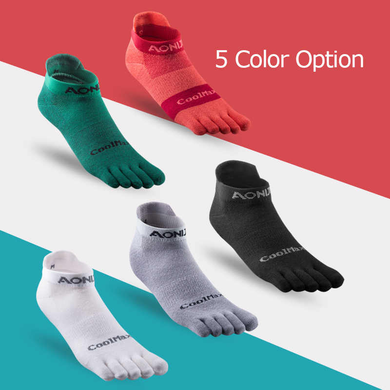 AONIJIE E4110 bir çift hafif düşük kesim atletik ayak çorap için çeyrek çorap beş parmaklı yalınayak koşu ayakkabıları maraton yarışı