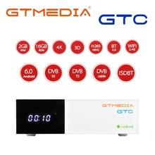 GTmedia TV BOX GTC, Android 6,0, BT4.0, DVB S2/T2/Cable/ISDBT, Amlogic S905D, 2GB de RAM, 16GB de ROM, compatible con receptor satélite cline m3u