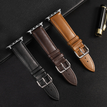 Brown Leather Band Loop Strap For Apple Watch 6 SE 5 4 3 2 1 38mm 40mm Men Leather Watch Band for iwatch 5 44mm 42mm Bracelet cheap XIYUZHIYI CN(Origin) New without tags P-3801 buckle 22cm Watchbands series 5 4 3 2 1 44mm 42mm 40mm 38mm Black Dark brown Light Brown