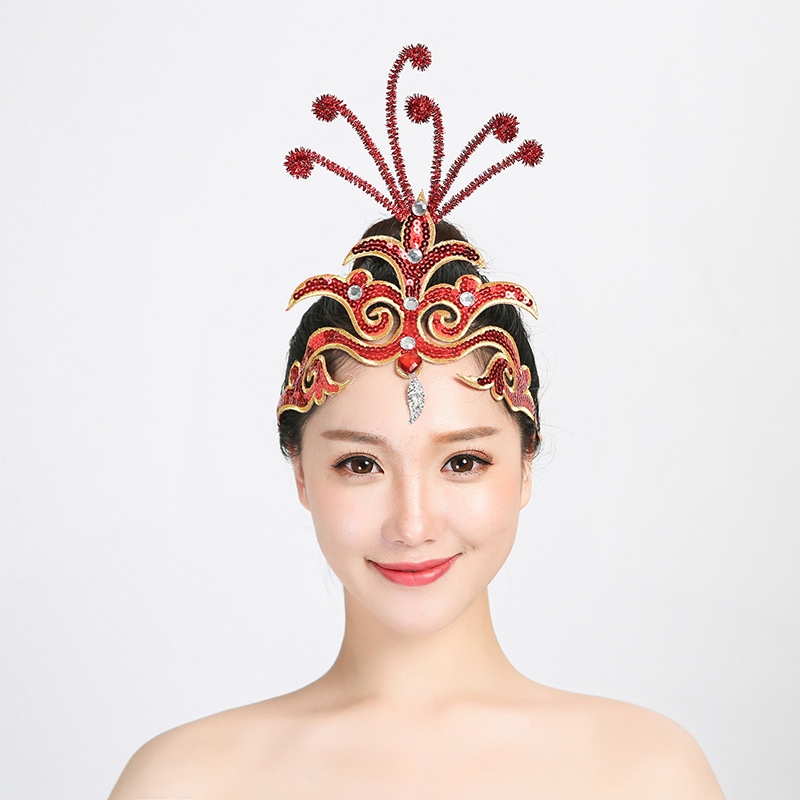 Accessories Ballerina Tiara Stage Performance Headdress National Dance Opening  Headpiece Classical Dance Silver Sequins