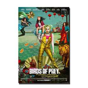 C361 Birds of Prey Movie Poster Art Posters and Prints Poster Wall Pictures 24x36 12x18 27x40 Decoration canvas painting