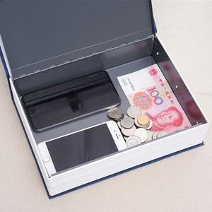 Image 4 - 패션 암호 스타일 종이 책 금고 창조적 인 돼지 저금통 시뮬레이션 현금 돈 보석 저장 상자 주최자